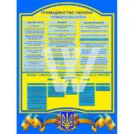 Стенд громадянство України на зображенні готового макету шкільного стенду