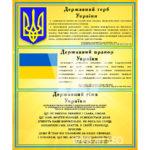Державні символи на зображенні стенду як символіка УКраїни