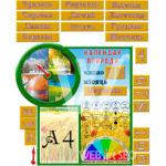 Календар природи на зображенні стенду в початкову школу – картинка