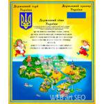 Державні символи України а саме: прапор герб тризуб