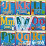 Англійська абетка – літери J – R зображення