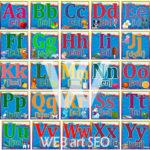 Стенд Англійський алфавіт літери A – Z – Абетка з картинками літер
