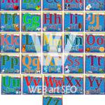Стенд Англійський алфавіт A – Z – Абетка зображення літер