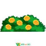 Виниловые наклейки – кусты и цветы – наклейки на стену