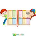 Наліпка на стіну – таблиця множення – кабінет математики оформлення