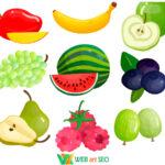 Интерьерные наклейки – фрукты в столовую – наклейка