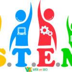 Інтер'єрні наклейки СТЕМ освіта інформатика математика