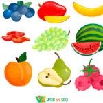 Наклейки на стену – фрукты в столовую
