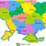 Наклейка карта Украины – для оформления класса