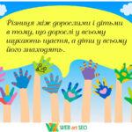 Вінілові наклейки – щасливі діти – дизайн НУШ школи