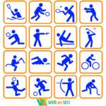 Виды спорта наклейки для спортзала