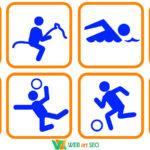Виды спорта наклейка спортзал