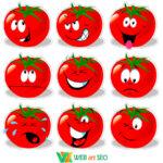 Наклейки на стіну – кумедні томати