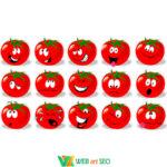 Наліпка кумедні томати
