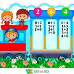 Наклейки в школу – состав числа оформления стен класса